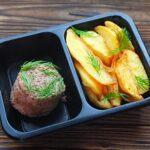 Котлетка из говядины паровая с запечённым картофелем