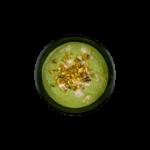 Крем-суп из зеленого горошка с мятой