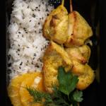 Куриные шашлычки в марокканском стиле с долькой апельсина