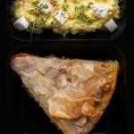 Рыбный пирог с брокколи и помидорами